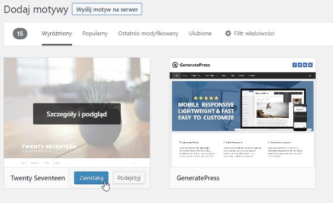 Automatyczna instalacja motywu WordPress z poziomu panelu administracyjnego