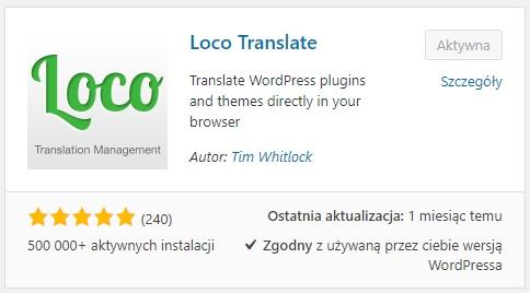 Wtyczka dotłumaczenia motywu WordPress - Loco Translate