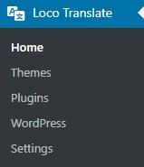 Dostępne opcje dotłumaczeń wewstczce Loco Translate