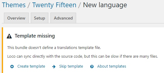 Dodajemy nowy język i tworzymy plik POT we wtyczce Loco Translate