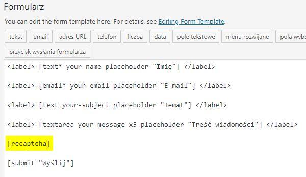 Dodanie zabezpieczenia reCAPTCHA od Google do formularza kontaktowego w WordPress