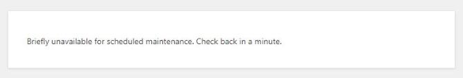 "Komunikat wWordPress ""Briefly unavailable for scheduled maintenance…"""